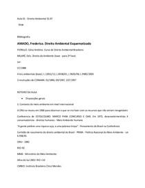 Aula 01 - 31.07 - Direito Ambiental