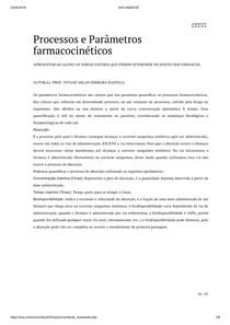 Processos e Parâmetros farmacocinéticos