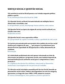 SERVIÇO SOCIAL E QUESTÃO SOCIAL acrescentado