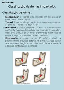 Classificação de dentes impactados