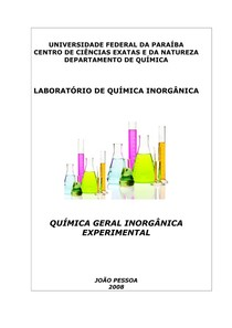 QUIMICA GERAL E INORGANICA EXPERIMENTAL