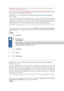 Apol 1 Conceitos e Temas Contemporâneos da Geografia