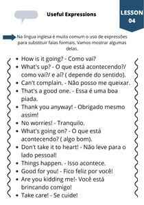 Expressões úteis em inglês