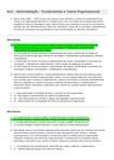 AV2 - Adm - Fundamentos e Teoria Organizacional