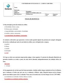 AV1 - DIREITO EMPRESARIAL II