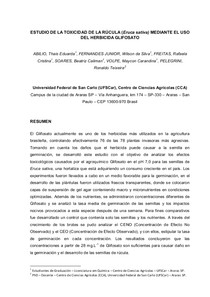 ESTUDO DA TOXICIDADE DA RÚCULA (Eruca sativa) ATRAVÉS DO USO DO HERBICIDA GLIFOSATO