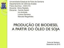 Produção de biodiesel a partir do óleo de soja