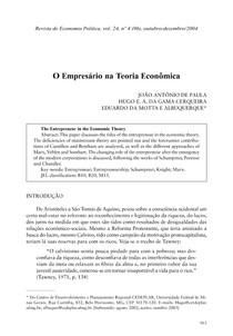 O Empresario na Teoria Economica