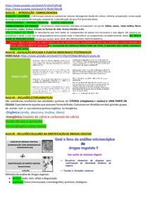 RESUMÃO - FARMACOGNOSIA