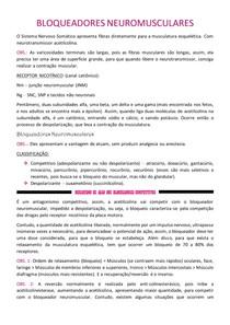Farmacologia - BLOQUEADORES NEUROMUSCULARES