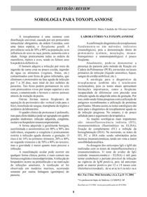 Sorologia para toxoplasmose 2004