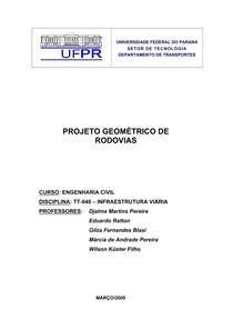APOSTILA Projeto Geometrico 2009