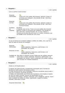 ATIV 4 - GESTÃO DE CRÉDITO, COBRANÇA E RISCO