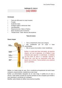 Resumo de Radiologia Ossos