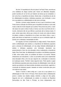 Resumo Paulo Freire