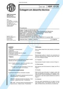 NBR 10126 - 1987 - Cotagem em desenho tecnico