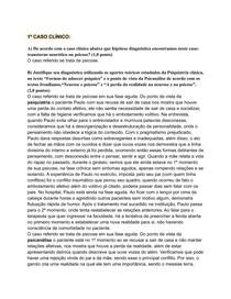 Casos Clinicos PSICOPATOLOGIA GERAL