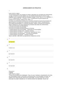 AOL 2 - Gerenciamento de projetos