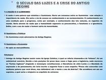 O SÉCULO DAS LUZES E A CRISE DO ANTIGO REGIME