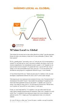 Máximo Local vs. Global - Criação de Produtos