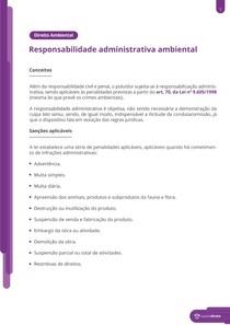 Responsabilidade administrativa e infrações ambientais - Resumo