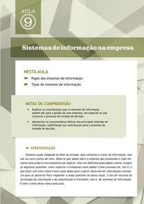 Tópico 2   Sistemas de Informacoes na Empresa