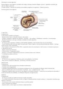 Resumo de histologia do sistema digestório