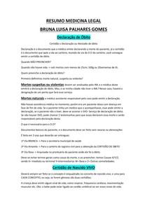 SUPER RESUMO MEDICINA LEGAL COM OS PRINCIPAIS TEMAS