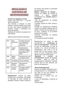 Regulamentação e Controle de Microrganismo