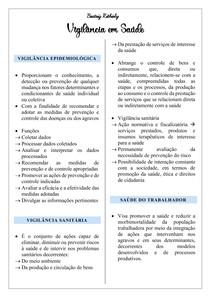 Vigilância epidemiológica, ambiental, sanitária e saúde do trabalhador