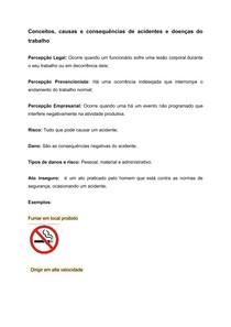 Acidentes e doenças do trabalho