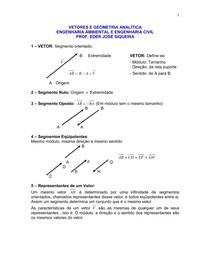 Apostila de Vetores e Geometria Analítica