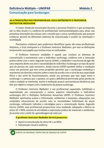 Deficiência Multipla - Unopar - Modulo 2
