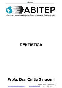 Apostila Testes Dentistica