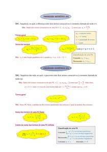 Progressão Aritmética e Progressão Geométrica (Resumo)