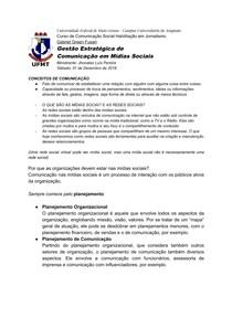 Caderno de Gestão Estratégica de Comunicação de Mídias Sociais