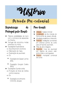 RESUMO DE PERIODO PRE-COLONIAL
