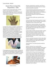 Exame Físico do Aparelho Respiratório