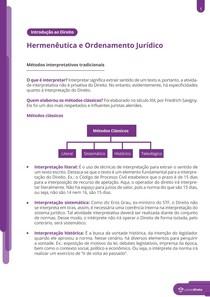 Hermenêutica e ordenamento jurídico - Resumo