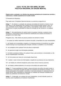 LEI N. 10.216