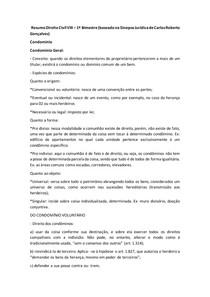 Resumo Direito Civil VIII 1 bimestre