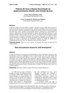 Fatores de risco e fatores de proteção ao desenvolvimento infantil