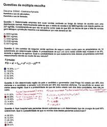 estatistica aplicada combinada