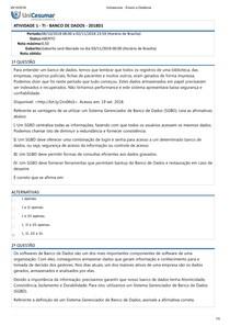 ATIVIDADE 1   TI   BANCO DE DADOS   2018D1