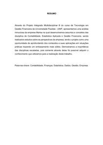 PIM 3 - MARISA- GESTÃO FINANCEIRA