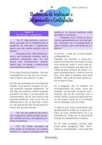 Prática Jurídica IV - Audiência de Instrução e Julgamento e Contestação