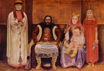 Andrey Ryabushkin  - Merchant Family in the XVII century