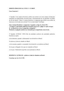 DIREITO PROC. CIVIL   CASO CONCRETO 1
