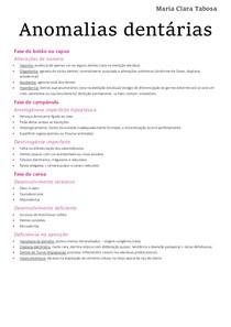 Odontopediatria - anomalias dentárias