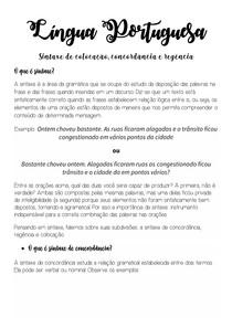 Língua Portuguesa- Sintaxe de colocação, concordância e regência